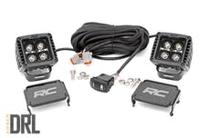 Rough Country 70903BLKDRLA Black Series Cree LED Fog Light Kit