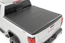 """Rough Country RC44308650 GM Soft Tri-Fold Bed Cover (2019-2020 1500 PU - 6' 6"""" Bed w/o Cargo Mgmt)"""