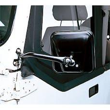 Rugged Ridge 11001.08 CJ-Style Side Mirror Kit; Black; 97-06 Jeep Wrangler TJ