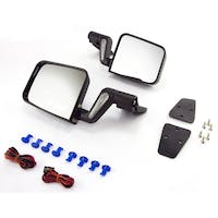 Rugged Ridge 11002.20 Jeep Wrangler YJ/TJ Heated Door Mirror Kit; Black