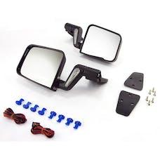 Rugged Ridge 11002.20 Jeep Wrangler YJ/TJ Heated Door Mirror Kit; Black