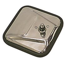 Rugged Ridge 11006.01 CJ-Style Mirror Head, Stainless Steel, Left