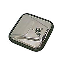 Rugged Ridge 11006.02 CJ-Style Mirror Head, Stainless Steel, Right