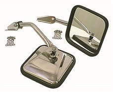 Rugged Ridge 11010.01 CJ-Style Side Mirror Kit, Chrome