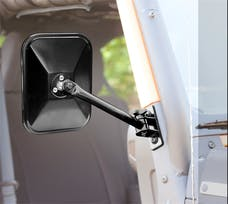 Rugged Ridge 11025.12 Quick Release Mirrors; Pair; Black; Rectangular; 97-17 Jeep Wrangler