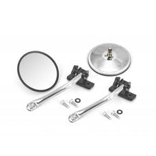 Rugged Ridge 11026.10 Quick Release Mirror Relocation Pair; Stainless; 97-17 Jeep Wrangler