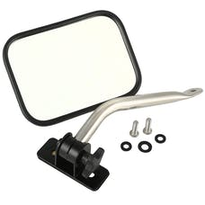 Rugged Ridge 11026.13 Quick Release Mirror Relocation Kit; Stainless; 97-17 Jeep Wrangler