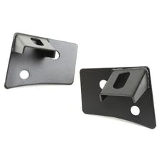 Rugged Ridge 11027.04 Windshield Auxiliary Light Brackets; Textured Black; 07-17 Wrangler JK