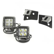 Rugged Ridge 11027.10 Windshield Bracket LED Kit; Black; Square; 07-17 Jeep Wrangler JK