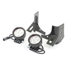 Rugged Ridge 11027.13 Windshield Bracket LED Kit, Black, Round