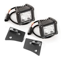 Rugged Ridge 11027.20 Jeep Wrangler JK Windshield Brkt LED Kit; Text; Dual Cube