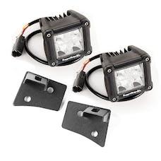 Rugged Ridge 11027.20 Jeep Wrangler JK Windshield Brkt LED Kit; Text; Dual Cube