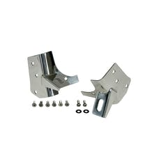 Rugged Ridge 11028.02 Windshield Light Brackets, Stainless Steel