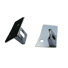 Rugged Ridge 11028.03 Windshield Light Brackets, Stainless Steel