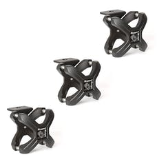 Rugged Ridge 11030.42 X-Clamp; Textured Black; 3 Pieces; 2.25-3 Inches