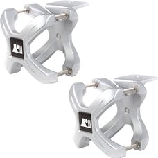 Rugged Ridge 11031.11 X-Clamp; Silver; Pair; 1.25-2.0 Inches