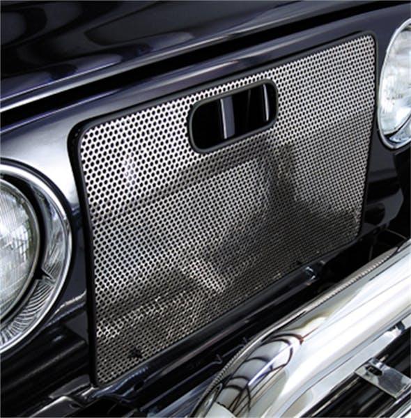 Rugged Ridge 11106.03 Radiator Bug Shield; Stainless Steel; 97-06 Jeep Wrangler TJ