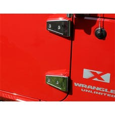 Rugged Ridge 11113.05 Door Hinge Cover Kit, Stainless Steel