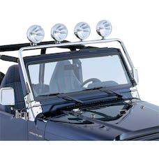 Rugged Ridge 11138.01 Full Frame Light Bar; Stainless Steel; 97-06 Jeep Wrangler TJ
