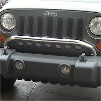 Rugged Ridge 11138.20 Jeep Wrangler JK Bumper Mounted Light Bar; Stainless Steel