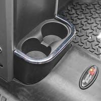 Rugged Ridge 11156.18 Jeep Wrangler JK/JKU Rear Cup Holder Accent, Chrome