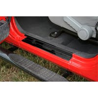 Rugged Ridge 11216.10 Jeep Wrangler JK Door Entry Guard Set; Black