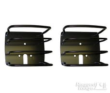 Rugged Ridge 11226.01 Euro Tail Light Guards; Black; 76-06 Jeep CJ/Wrangler YJ/TJ