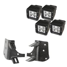 Rugged Ridge 11232.38 Dual A-Pillar LED Kit, 3-Inch Square Lights