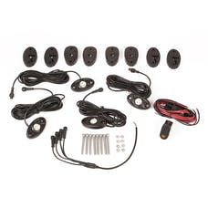 Rugged Ridge 11232.40 LED Rock Light Kit with Harness; 4-pc; White; 07-17 JK