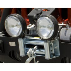 Rugged Ridge 11238.03 Roller Fairlead with Offroad Light Mounts