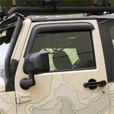 Rugged Ridge 11349.11 Window Visors; Matte Black; 2-Door; 07-17 Jeep Wrangler JK