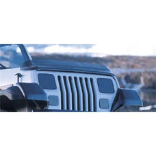 Rugged Ridge 11350.01 Bug Deflector; Smoke; 87-06 Jeep Wrangler YJ/TJ