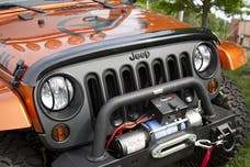 Rugged Ridge 11350.02 Wraparound Bug Deflector; Smoke; 07-17 Jeep Wrangler JK