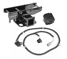 Rugged Ridge 11580.52 Receiver Hitch Kit; Jeep Logo; 07-17 Jeep Wrangler JK