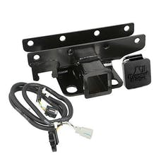 Rugged Ridge 11580.60 Receiver Hitch Kit; Wire Harness; Rugged Ridge Logo; 07-17 Wrangler