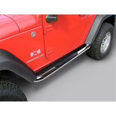 Rugged Ridge 11593.05 Round Tube Side Steps; 3 Inch; Stainless; 07-17 Jeep Wrangler 2 Door