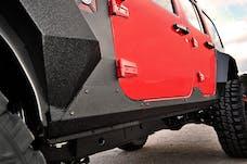 Rugged Ridge 11615.10 Steel Body Armor Cladding; 07-17 Jeep Wrangler Jku