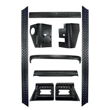 Rugged Ridge 11650.60 9 Piece Body Armor Kit; 97-06 Jeep Wrangler TJ