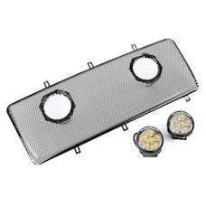 """Rugged Ridge 12034.13 Grille Insert Kit, Dual 3.5"""" LEDs"""