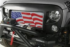 Rugged Ridge 12034.22 Spartan Grille Insert; American Flag; 07-17 Jeep Wrangler JK