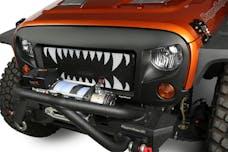 Rugged Ridge 12034.24 Spartan Grille Insert; Land Shark; 07-17 Jeep Wrangler JK
