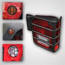 Rugged Ridge 12496.03 8 Piece Euro Guard Light Kit; Black; 07-17 Jeep Wrangler JK