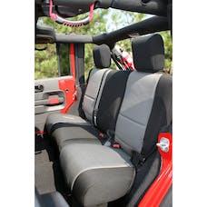 Rugged Ridge 13264.09 Neoprene Rear Seat Cover; Black/Gray; 07-17 Jeep Wrangler JKU