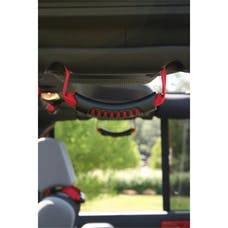 Rugged Ridge 13305.15 Rear Side Grab Handles; Red; 07-17 Jeep Wrangler JKU