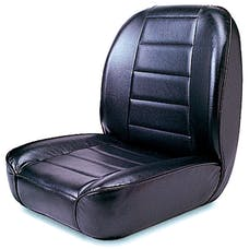 Rugged Ridge 13400.01 Low-Back Front Seat; No-Recline; Black; 55-86 Jeep CJ Models
