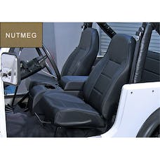 Rugged Ridge 13401.07 High-Back Front Seat; No-Recline; Nutmeg; 76-02 Jeep CJ/Wrangler YJ/TJ