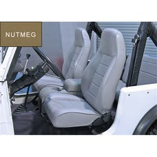 Rugged Ridge 13402.07 High-Back Front Seat; Reclinable; Nutmeg; 76-02 Jeep CJ/Wrangler YJ/TJ