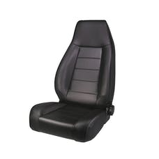 Rugged Ridge 13402.15 High-Back Front Seat; Reclinable; Black Denim; 76-02 CJ/Wrangler YJ/TJ