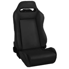 Rugged Ridge 13405.15 Sport Front Seat; Reclinable; Black Denim; 76-02 CJ/Wrangler YJ/TJ