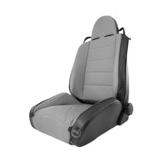 Rugged Ridge 13448.09 RRC Off Road Racing Seat; Reclinable; Gray; 84-01 Jeep Cherokee XJ